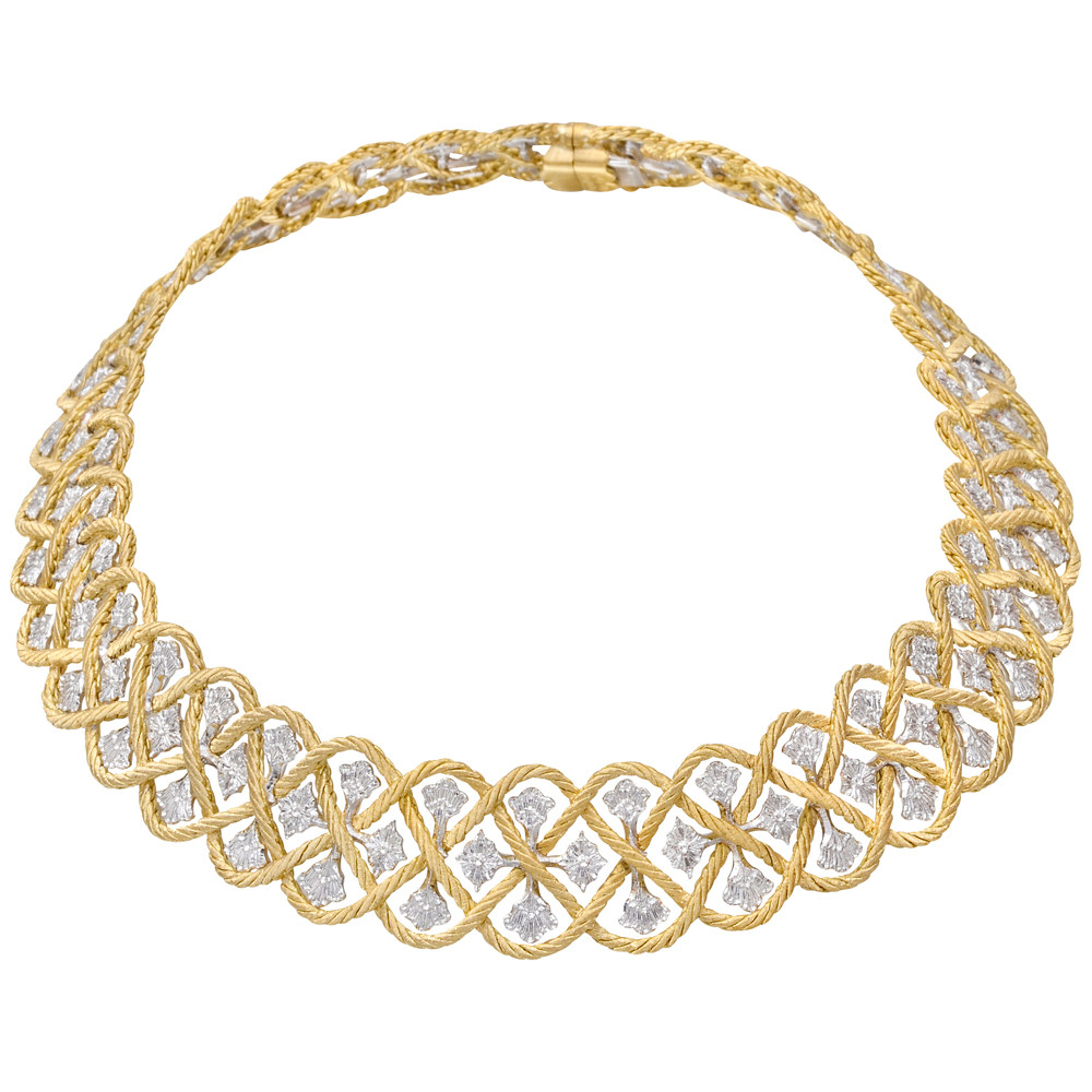 "18k Yellow & White Gold ""Etoilee"" Choker Necklace"