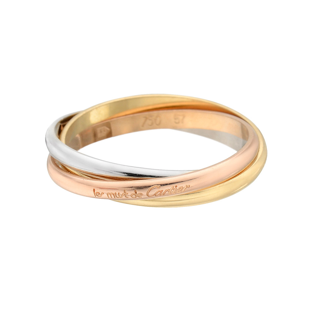 Cartier Trinity Wedding Ring: Estate Cartier Mini 'Les Must De Cartier' Trinity Ring