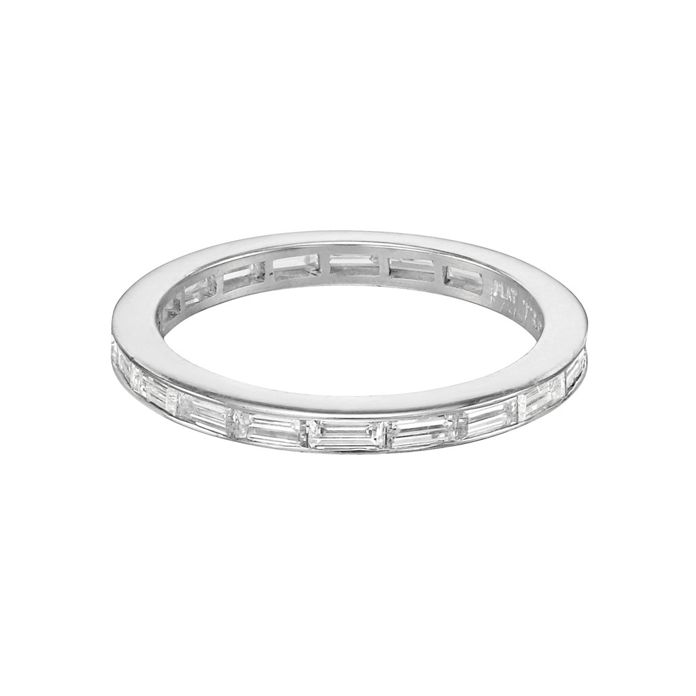 band bling sterling baguette bands wedding cut cz jewelry eternity silver ring mdr