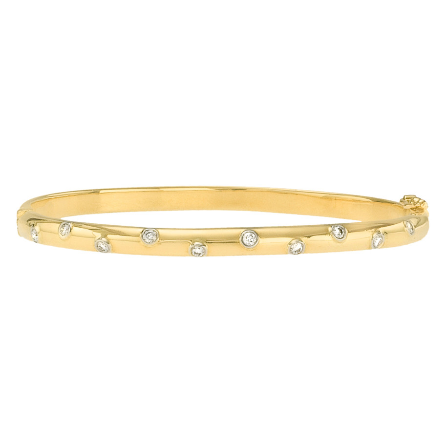 "18k Yellow Gold & Diamond ""Etoile"" Bangle"
