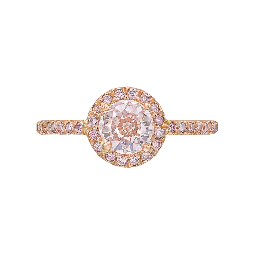 Fancy Brownish-Pink Diamond Ring