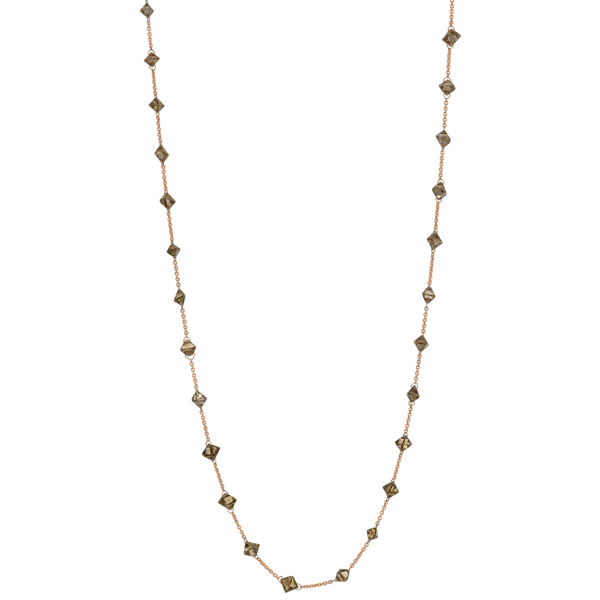 Fancy-Cut Brown Diamond Chain Necklace (12.39ct tw)