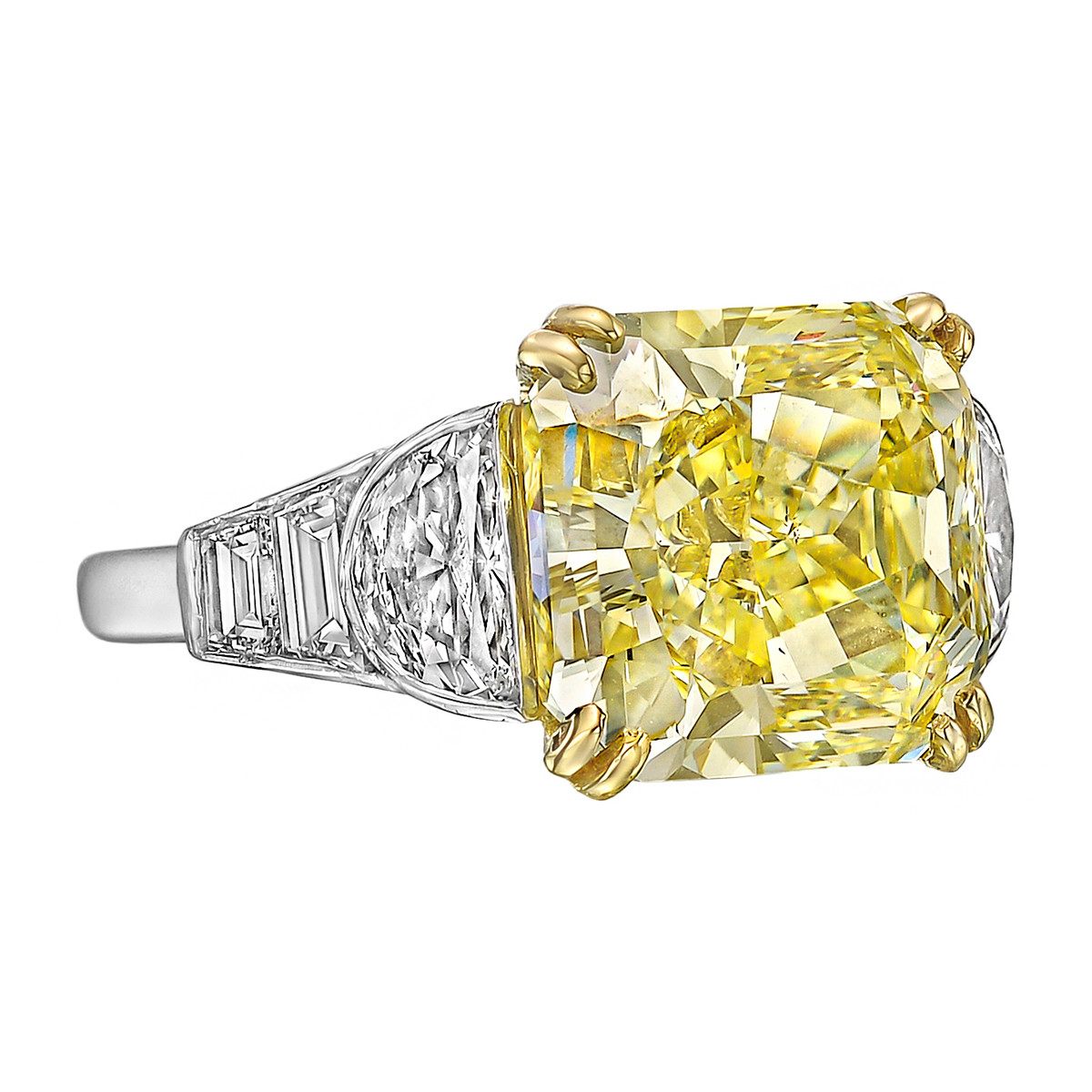 8.74ct Fancy Intense Yellow Diamond Ring (VS2)