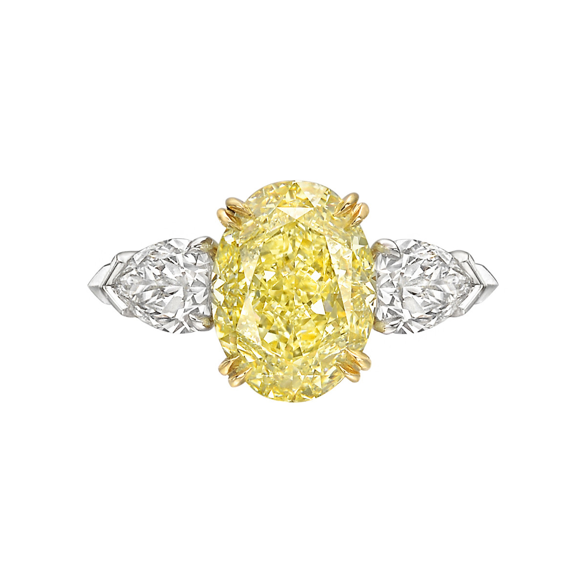 3.26 Carat Fancy Yellow Diamond Ring