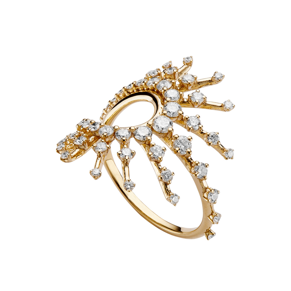 "18k Yellow Gold & Diamond ""Clarity"" Ring"