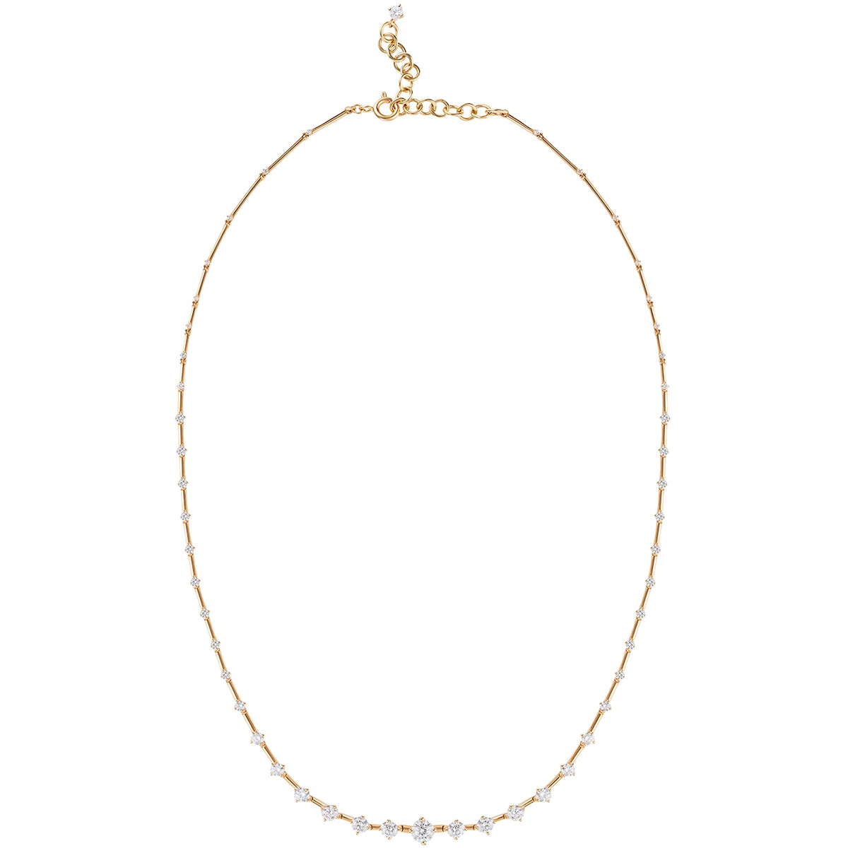 "18k Yellow Gold & Diamond ""Sequence"" Necklace"