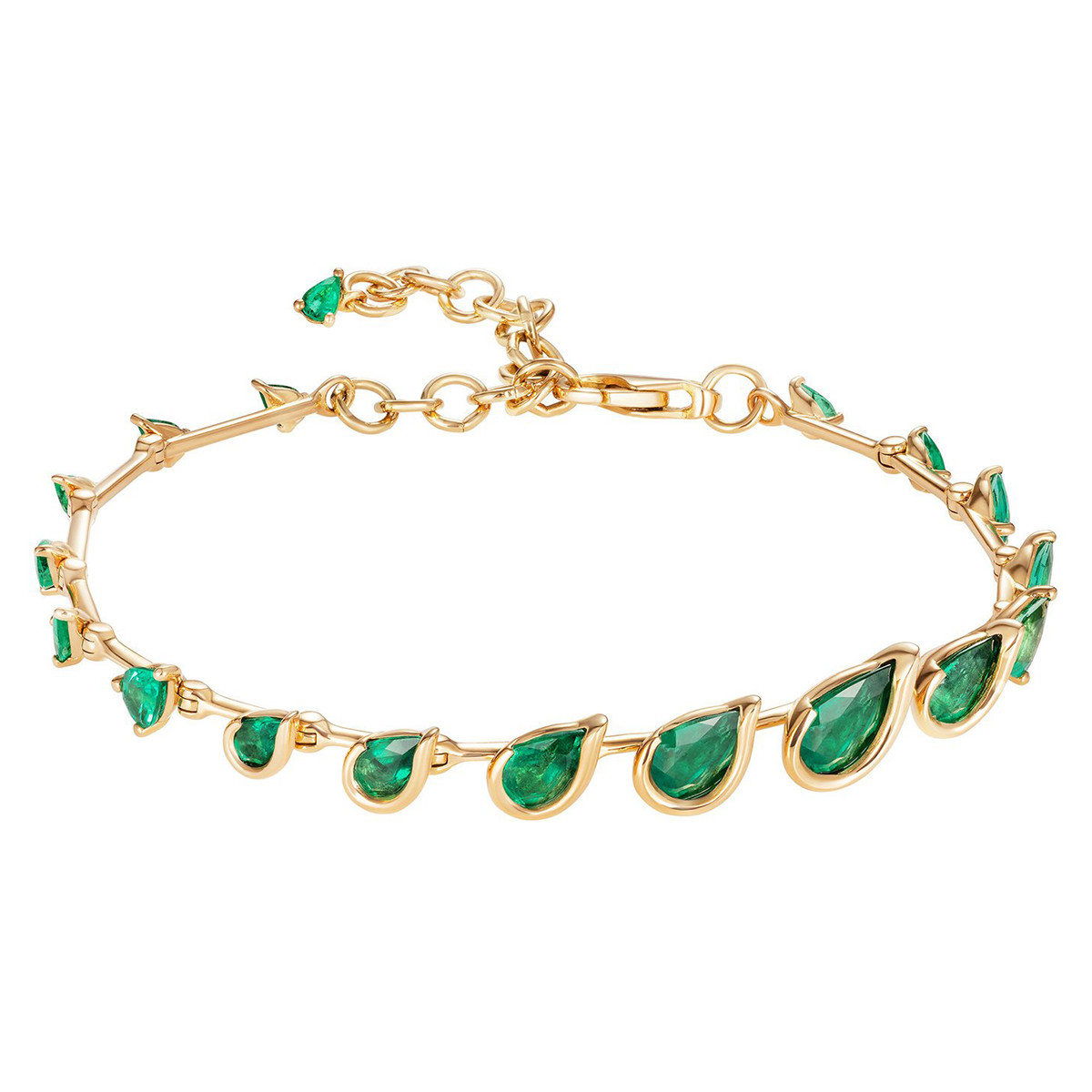 "18k Yellow Gold & Emerald ""Flicker"" Bracelet"