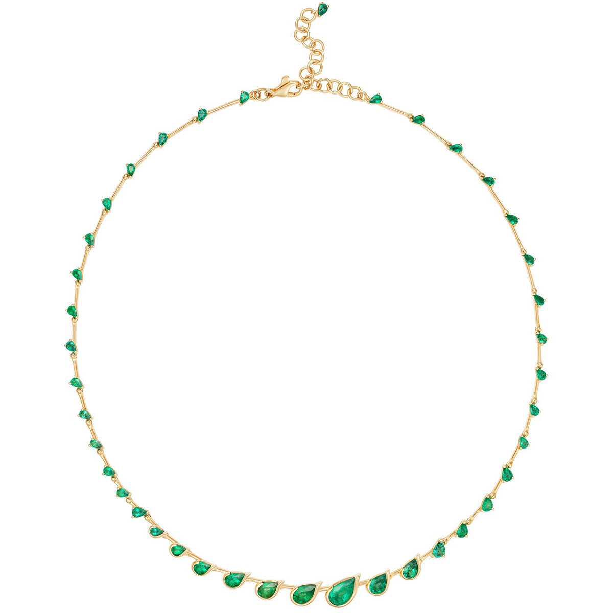 """18k Yellow Gold & Emerald """"Flicker"""" Necklace"""