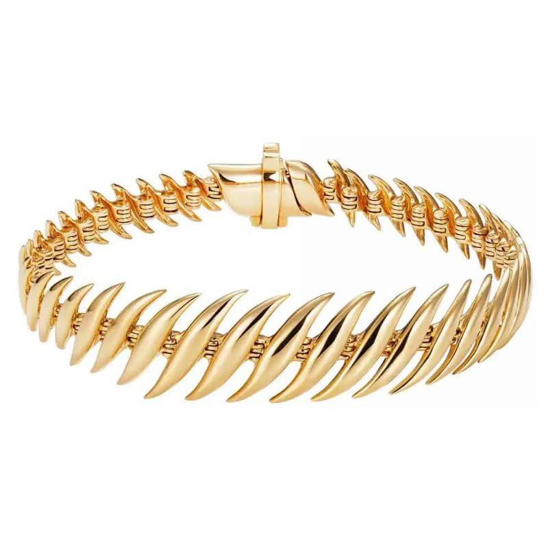 "18k Yellow Gold ""Flame"" Bracelet"