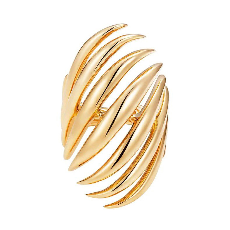 "18k Yellow Gold Large ""Flame"" Ring"