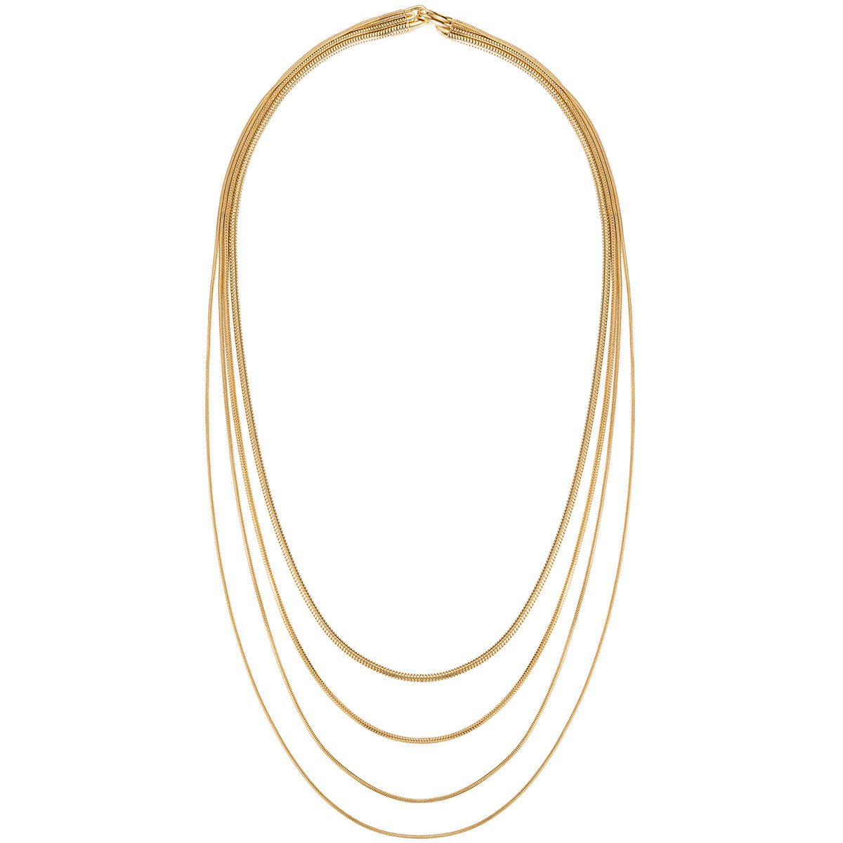"18k Yellow Gold ""Parallel"" Multi-Chain Necklace"