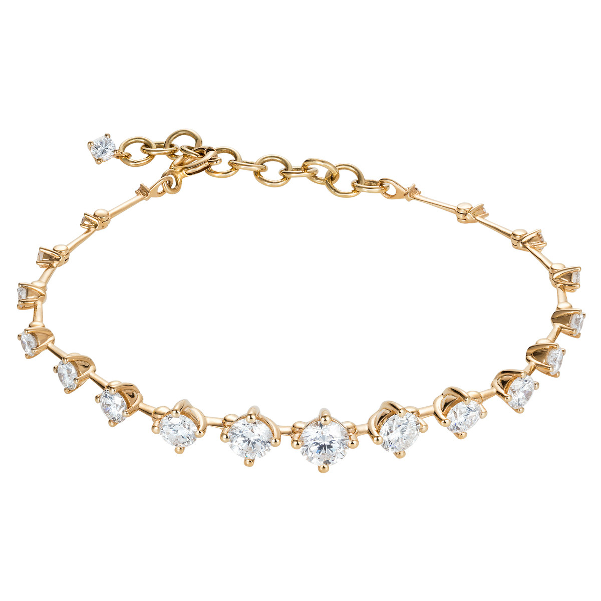 "18k Yellow Gold & Diamond ""Sequence"" Bracelet"