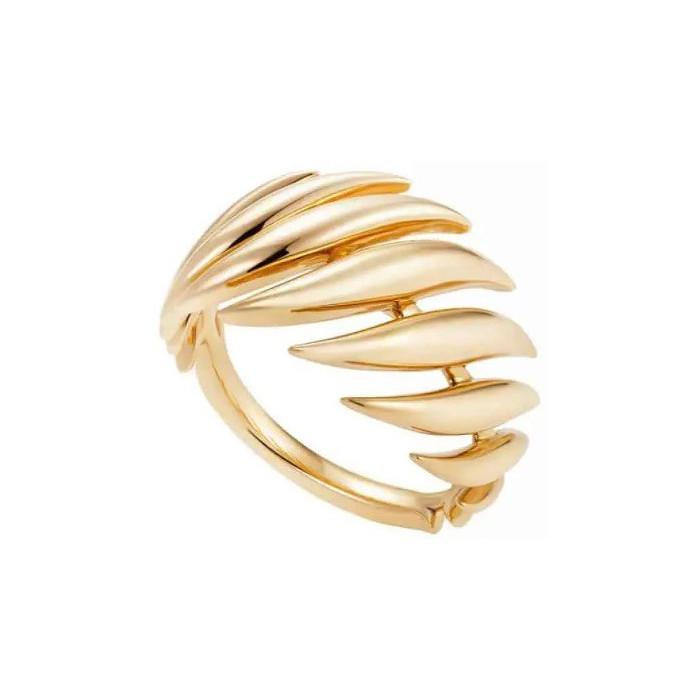 "18k Yellow Gold Small ""Flame"" Ring"