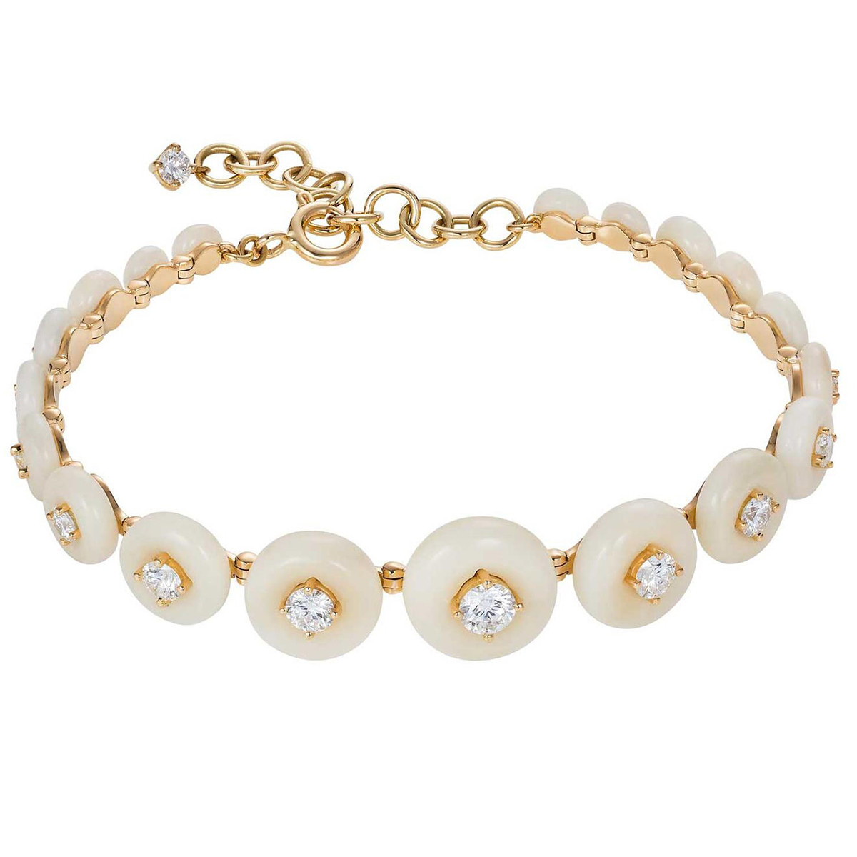"Tagua Nut & Diamond ""Surround"" Bracelet"