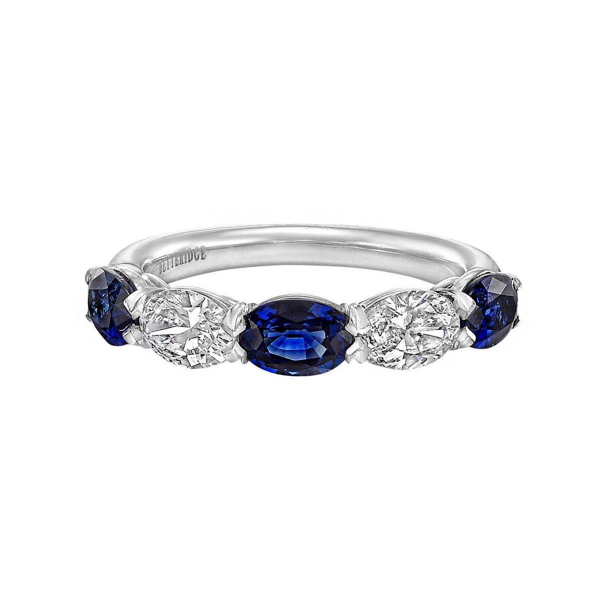 Five-Stone Oval Sapphire & Diamond Band Ring
