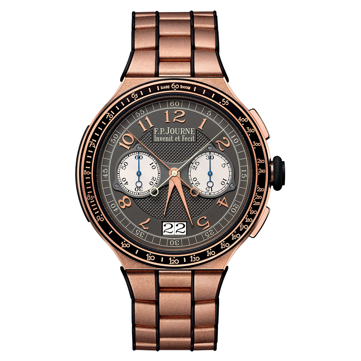 Chronographe Monopoussoir Rattrapante Rose Gold