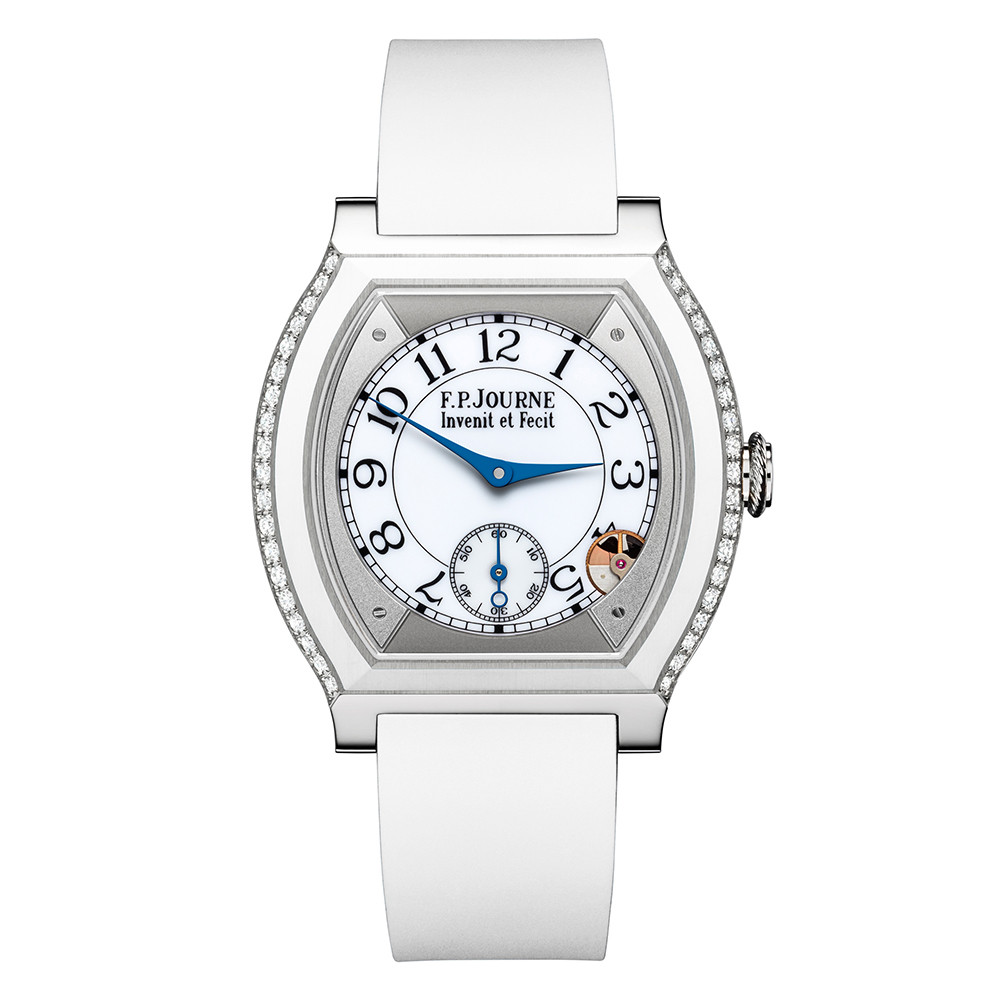 Elegante 40mm White Titanium & Diamonds
