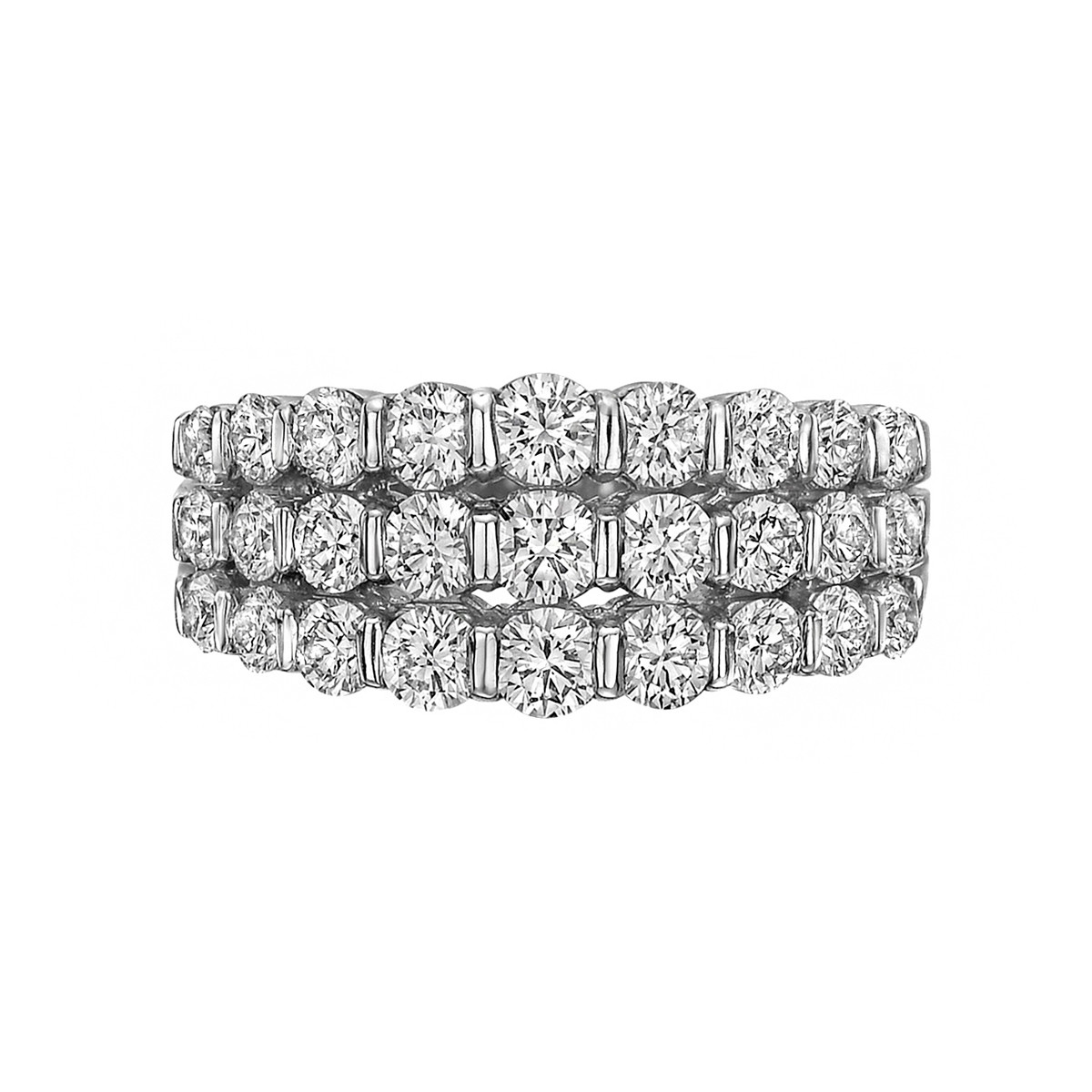 Three-Row Round Diamond Band Ring (1.95ct tw)