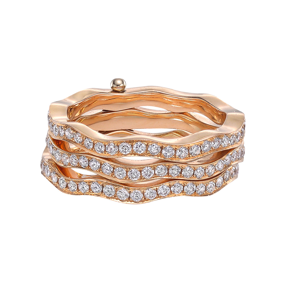 "Gilan ""Playful Cintemani"" Triple-Row Band Ring"