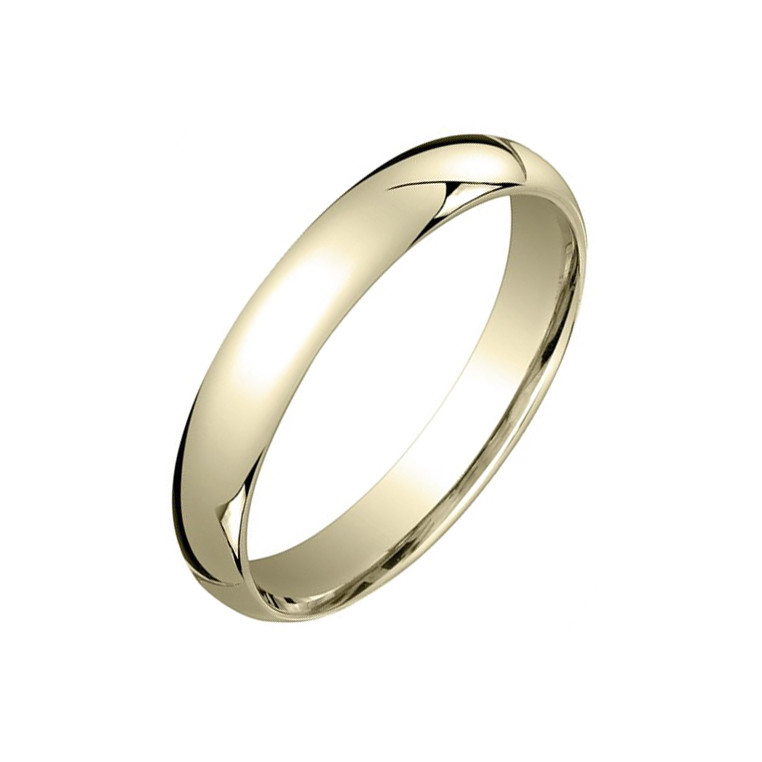 18k Yellow Gold Comfort Fit Wedding Band (4mm)