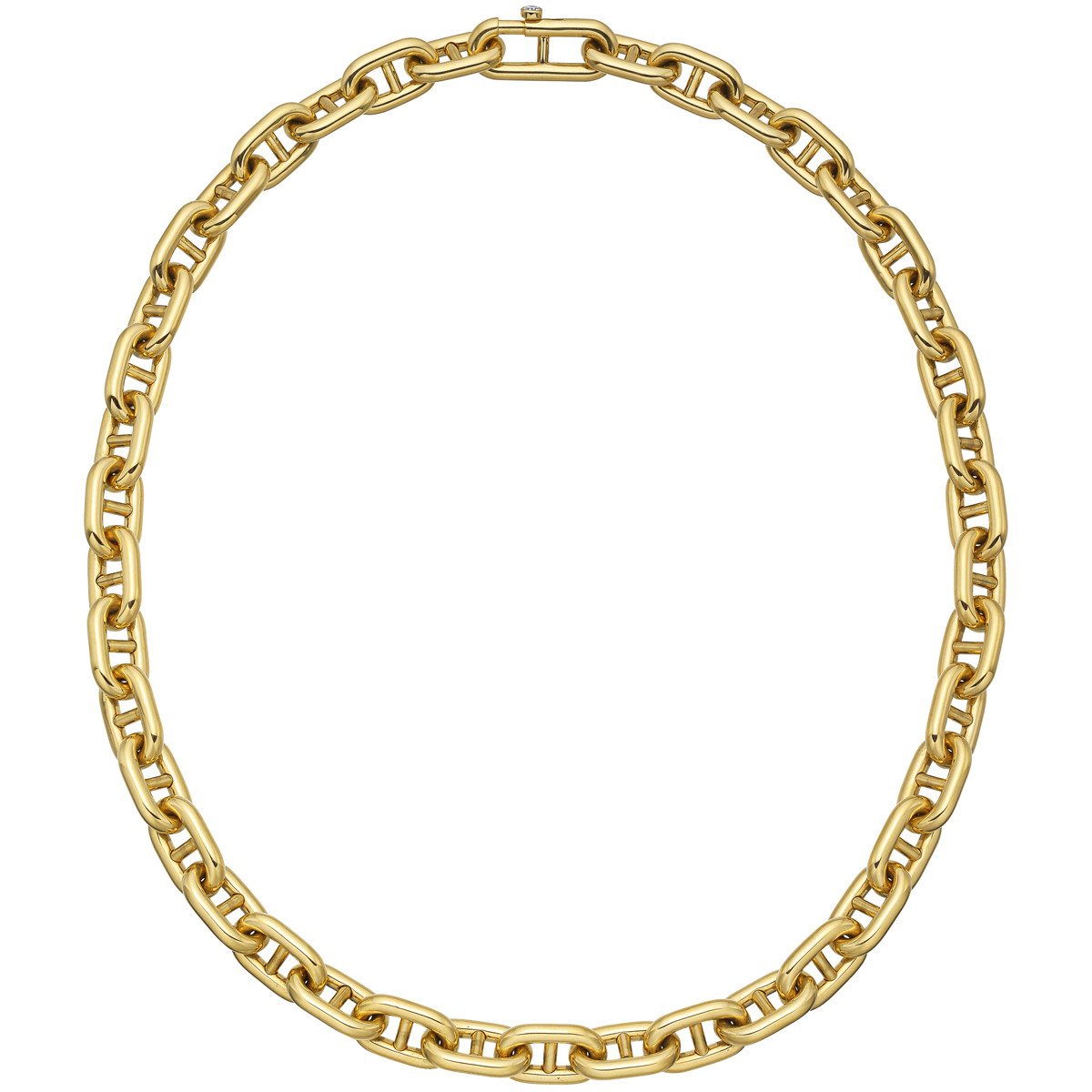 18k Yellow Gold Anchor Link Necklace