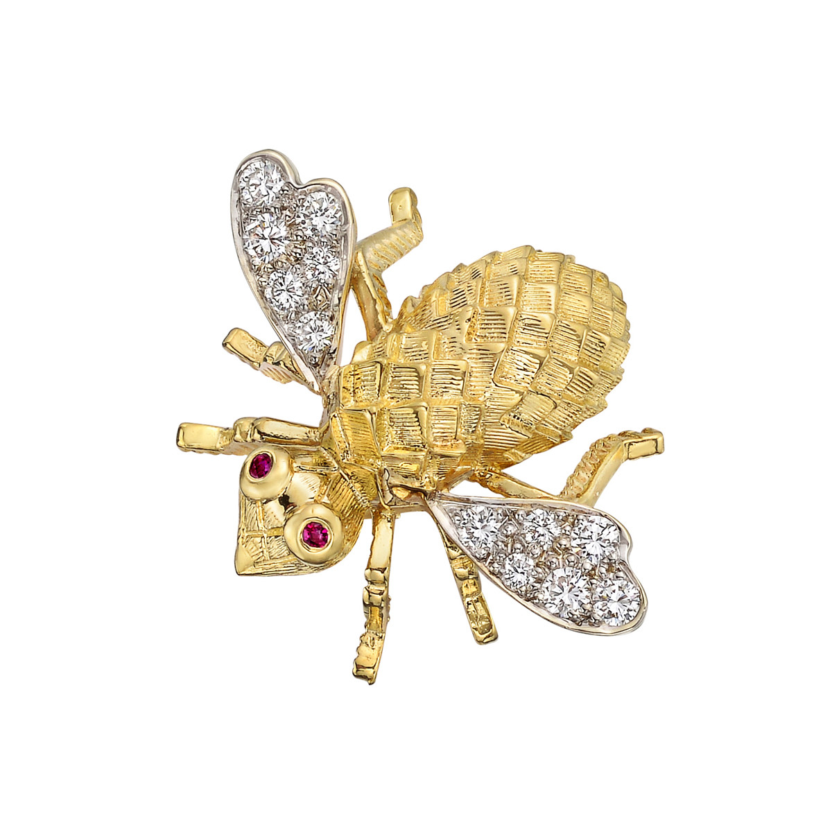 18k Gold & Diamond Bee Pin