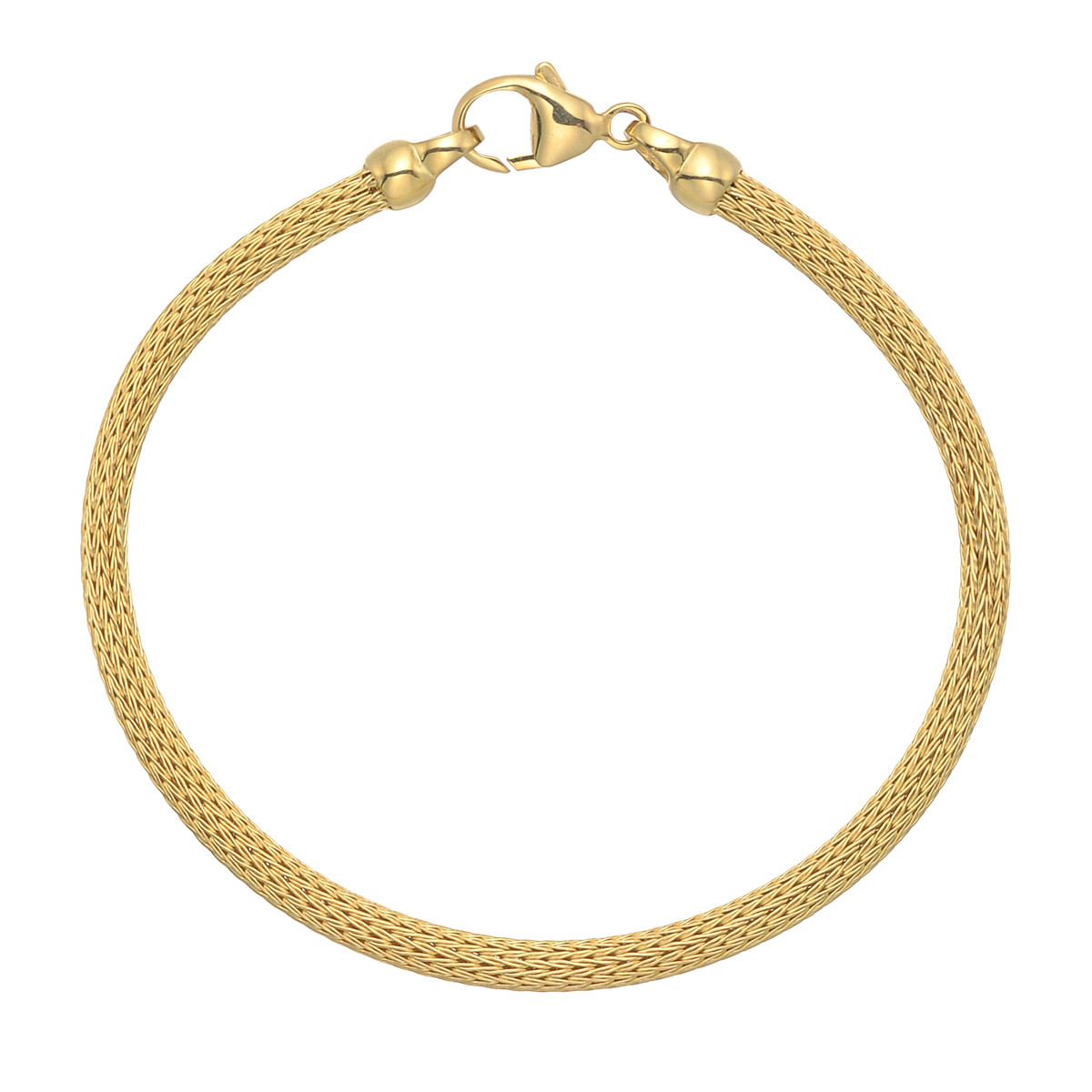 18k Yellow Gold Double Knit Mesh Bracelet