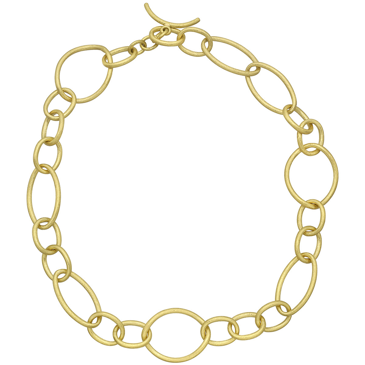 18k Yellow Gold Multi-Shape Link Necklace