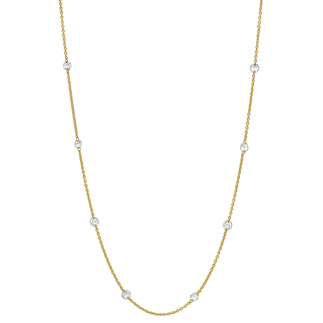 Rose-Cut Diamond Chain Necklace (1.47 ct tw)