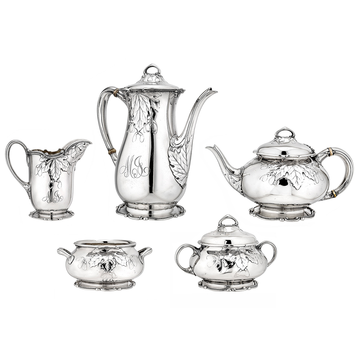 Antique 5-Piece Silver Tea & Coffee Service