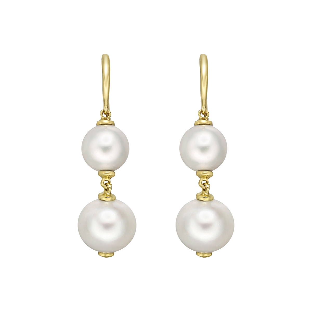 "Double Pearl ""Beyond"" Drop Earrings"