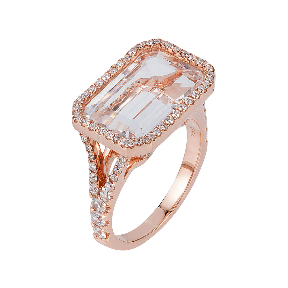 Rock Crystal & Diamond Cocktail Ring