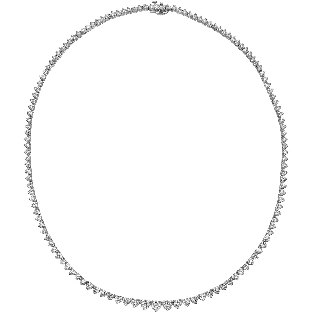 Graduated Diamond Line Necklace (10.21ct tw)