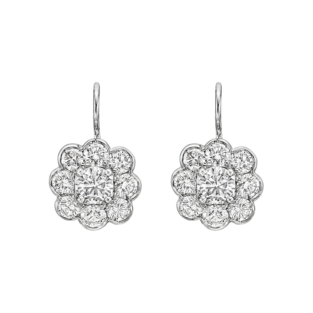 foliate drop earrings cluster diamond graff betteridge p