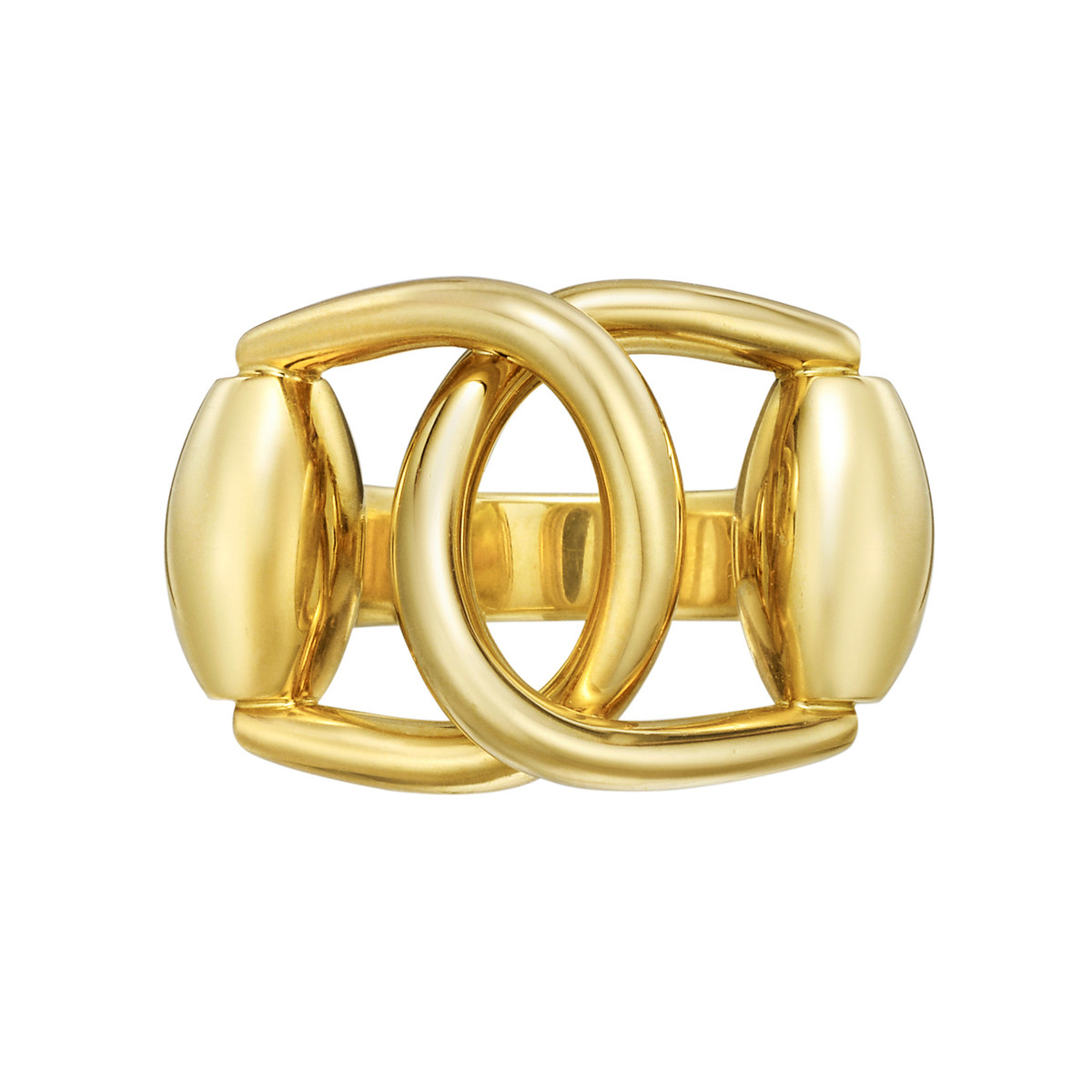 18k Yellow Gold Stirrup Ring