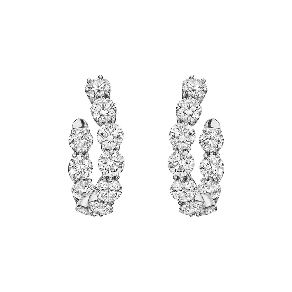 "Diamond ""New Moon"" Hoop Earrings (4.94 ct tw)"