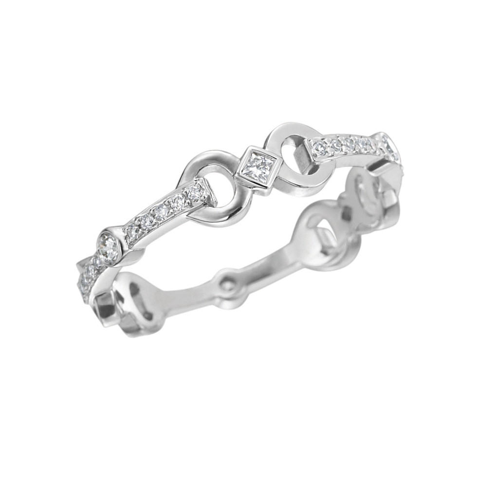 "18k White Gold & Diamond ""Gallop"" Ring"