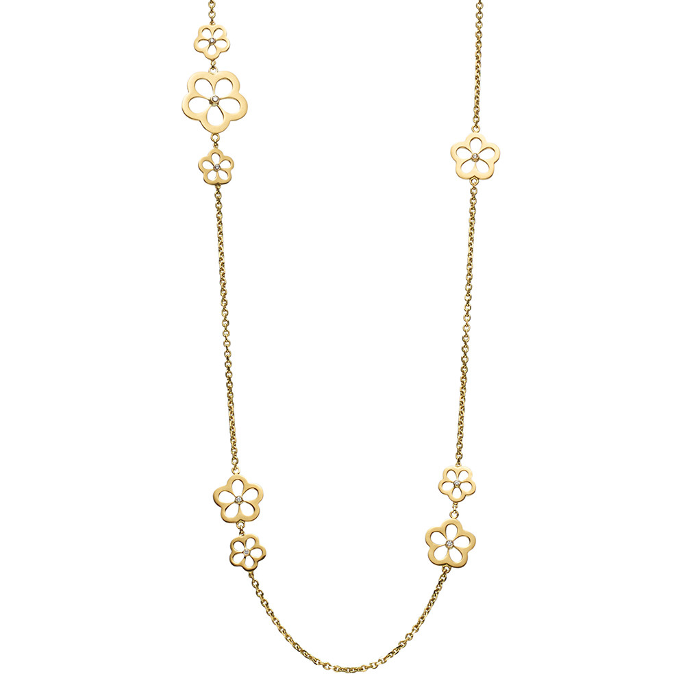 "18k Yellow Gold & Diamond ""Daisy"" Necklace"