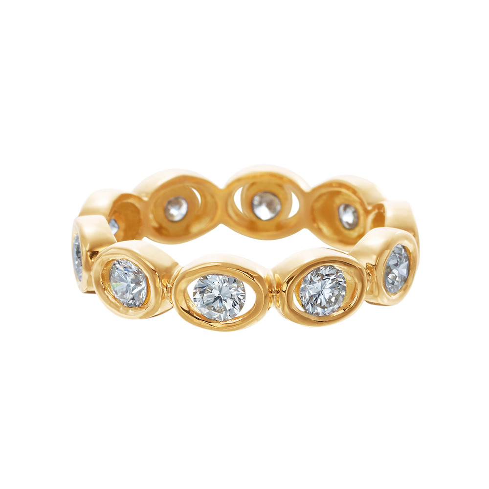 "18k Yellow Gold & Diamond ""Oasis"" Eternity Band"