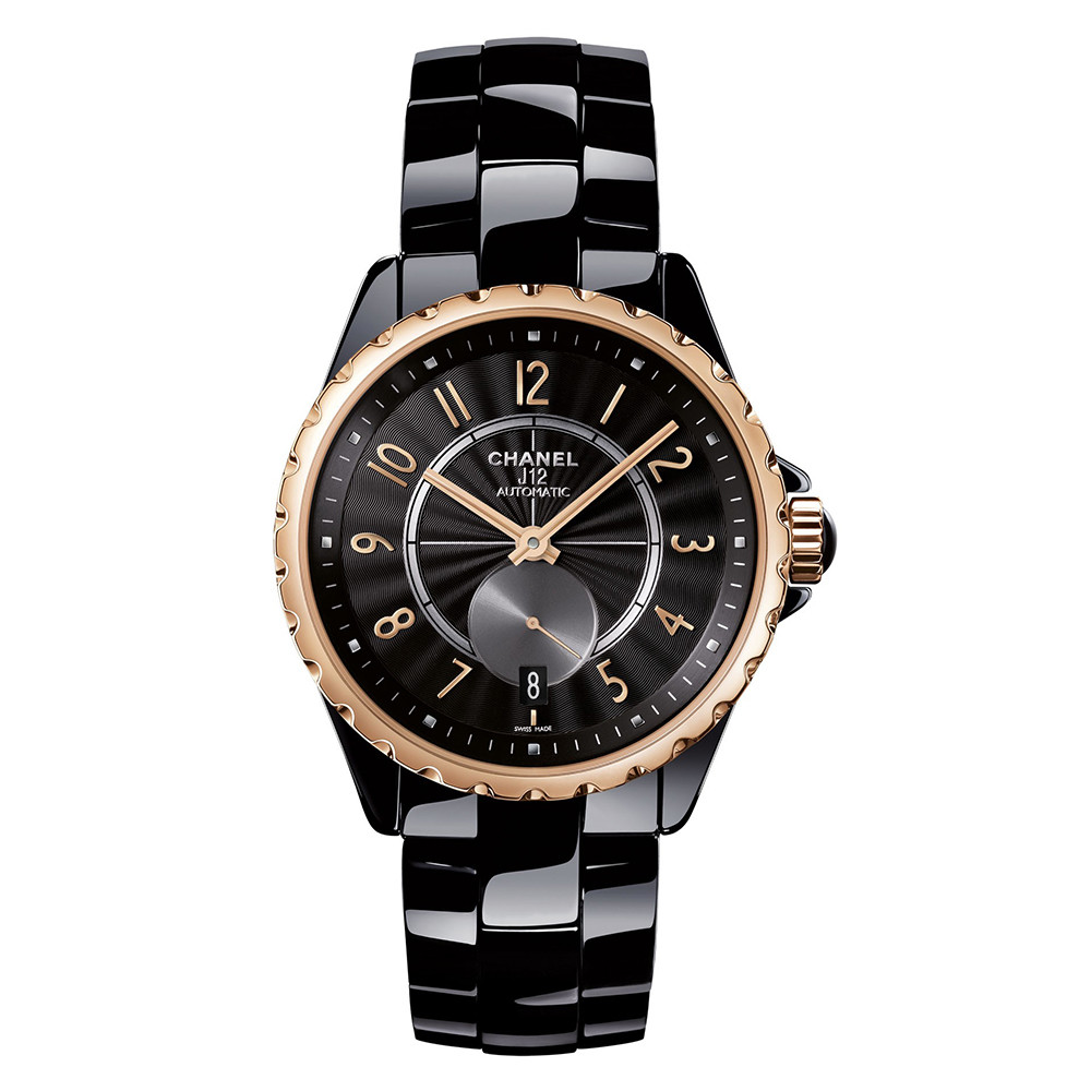 J12-365 Black Ceramic & Beige Gold (H3838)