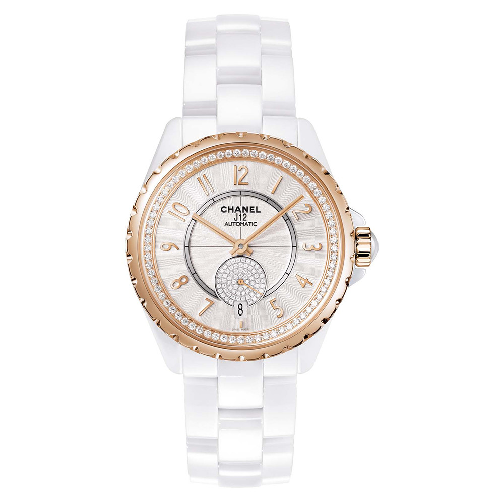 J12-365 White Ceramic & Beige Gold (H3843)