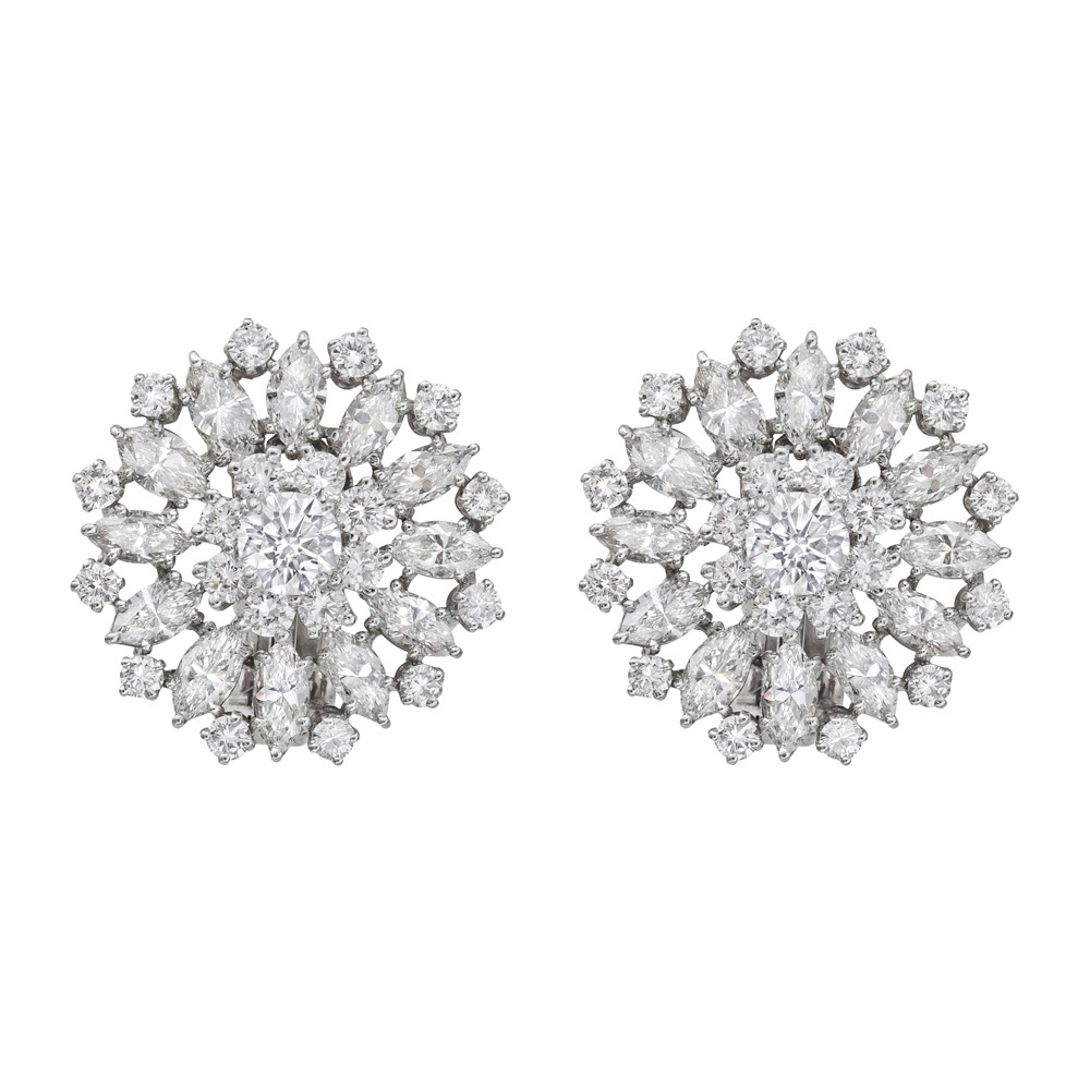 p circular diamond estate betteridge earrings harry cluster collection winston
