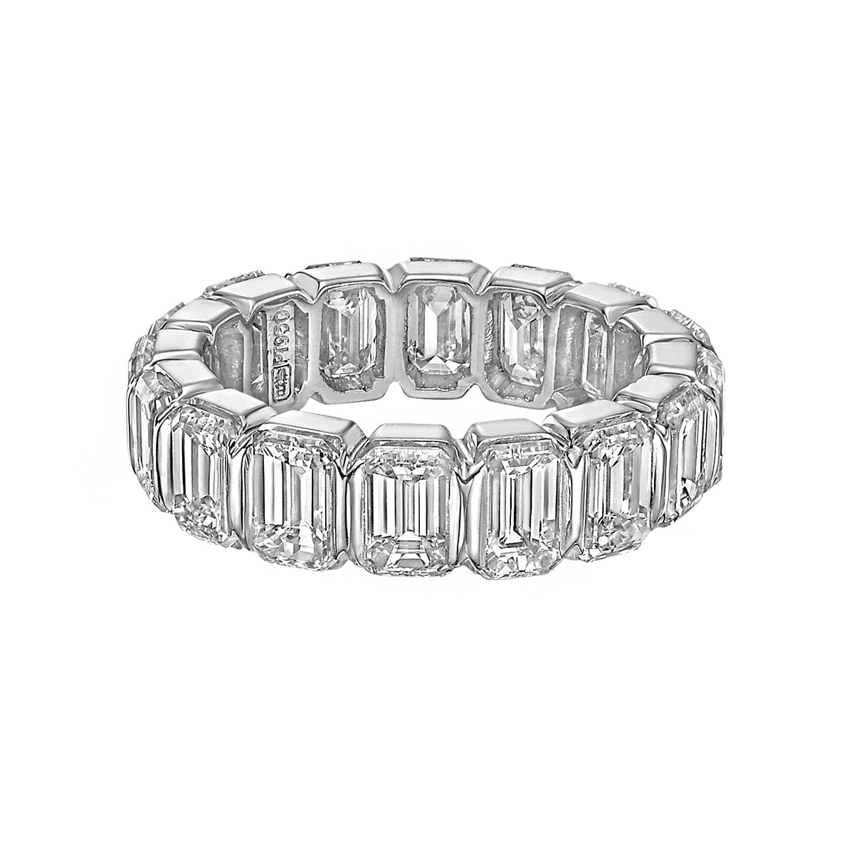 Emerald-Cut Diamond Eternity Band (~8.11 ct tw)