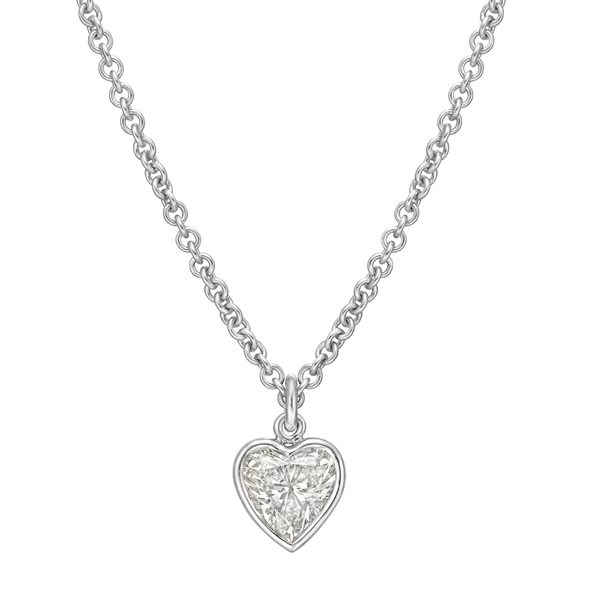 1.67 Carat Heart Brilliant-Cut Diamond Solitaire Pendant