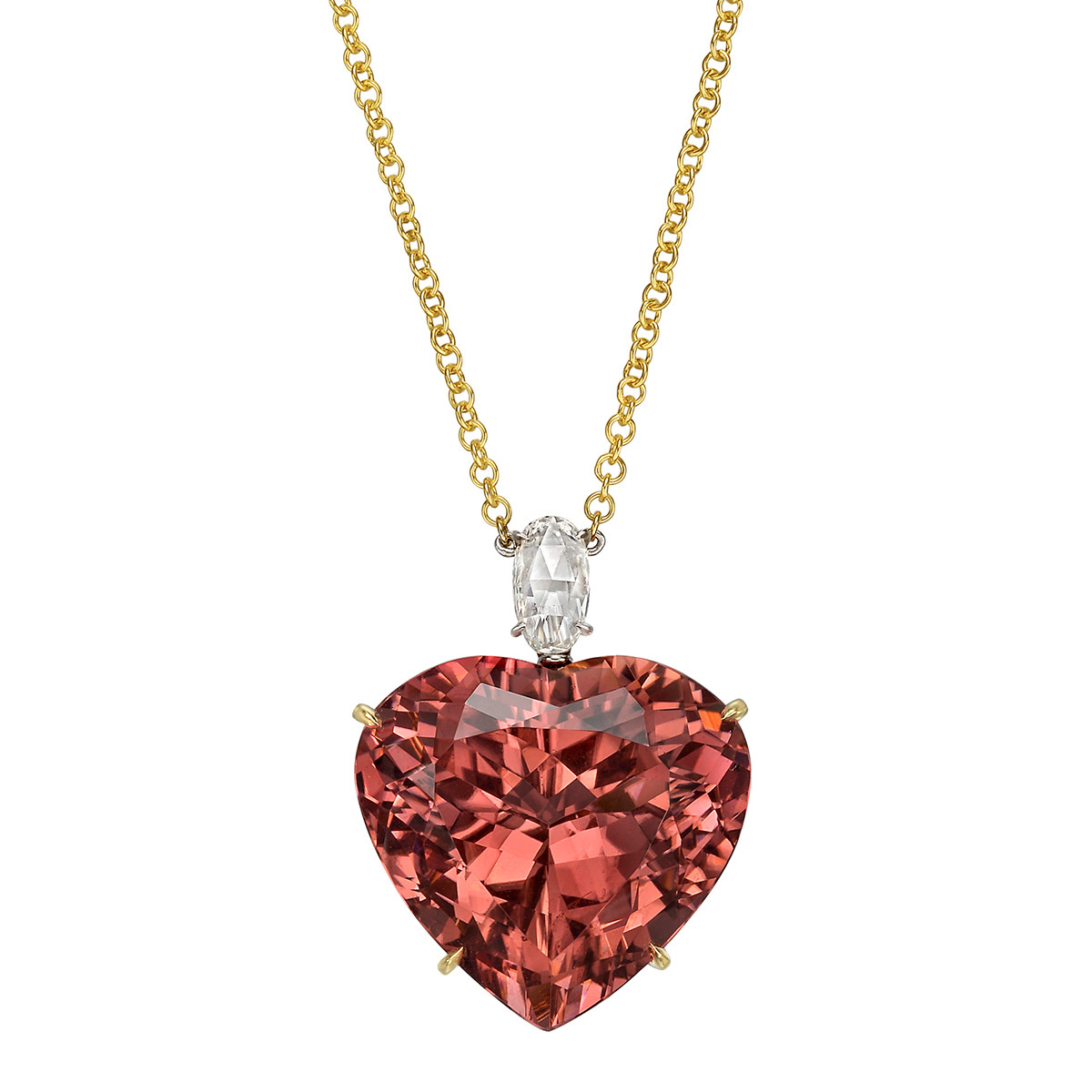 32.73ct Heart-Shaped Pink Tourmaline Pendant