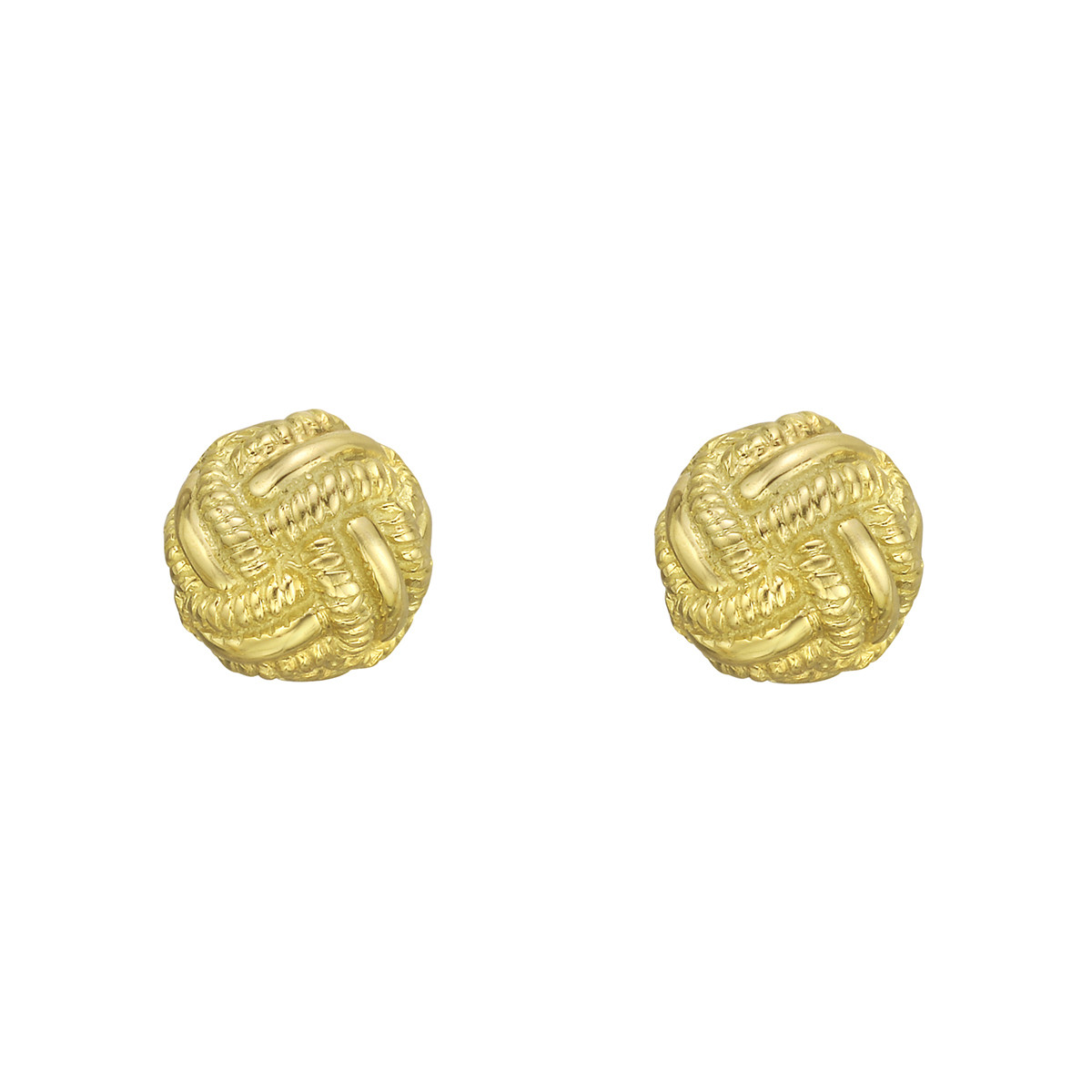 Schlumberger 18k Yellow Gold Rope Knot Stud Earrings