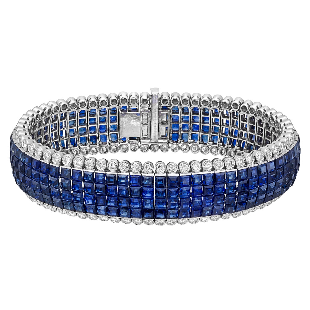 bangle once bracelet upon with in gold products cluster diamonds sapphire diamond white a