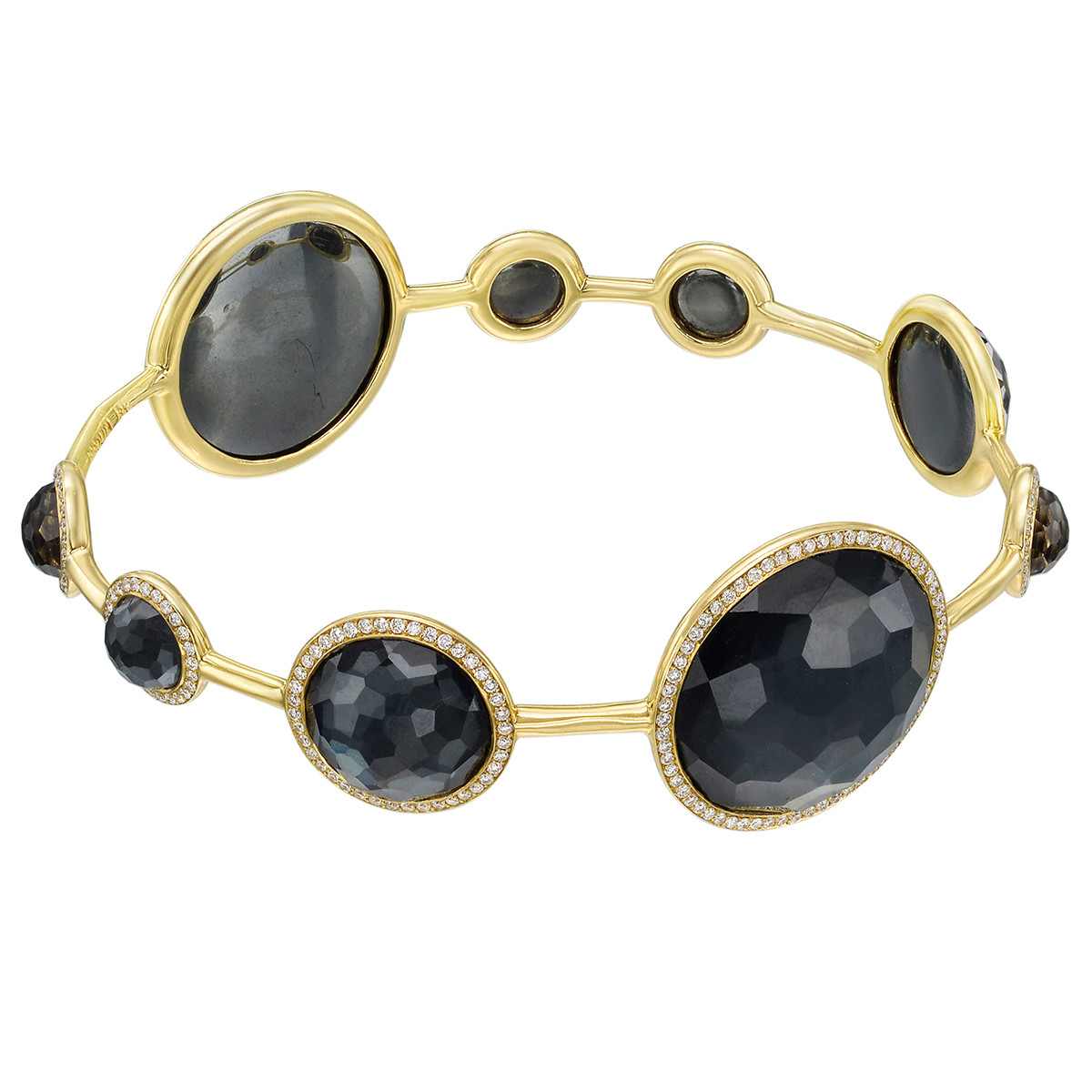 "Hematite & Diamond ""Lollipop"" Bangle"
