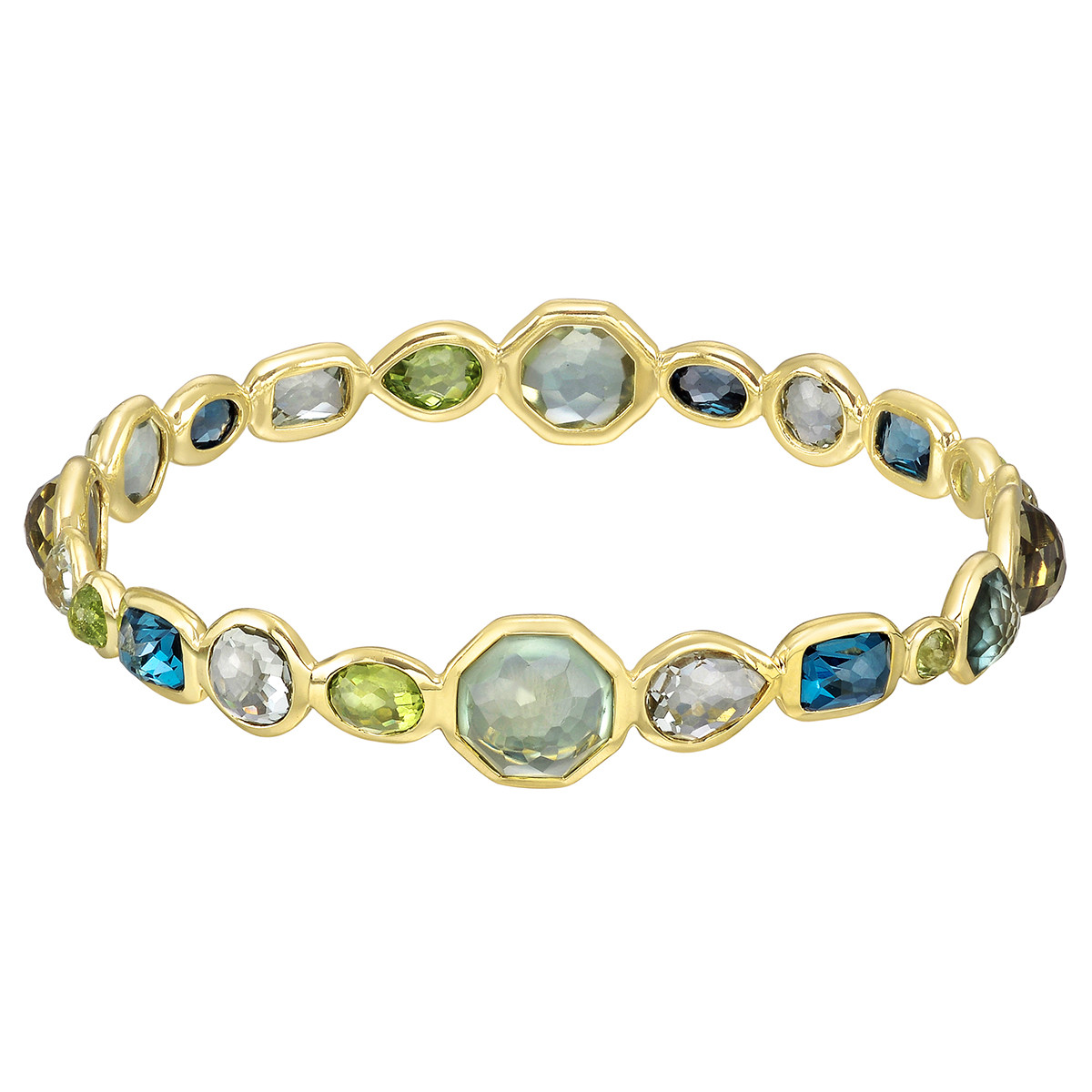 "18k Yellow Gold & Gem-Set ""Rock Candy"" Bangle"