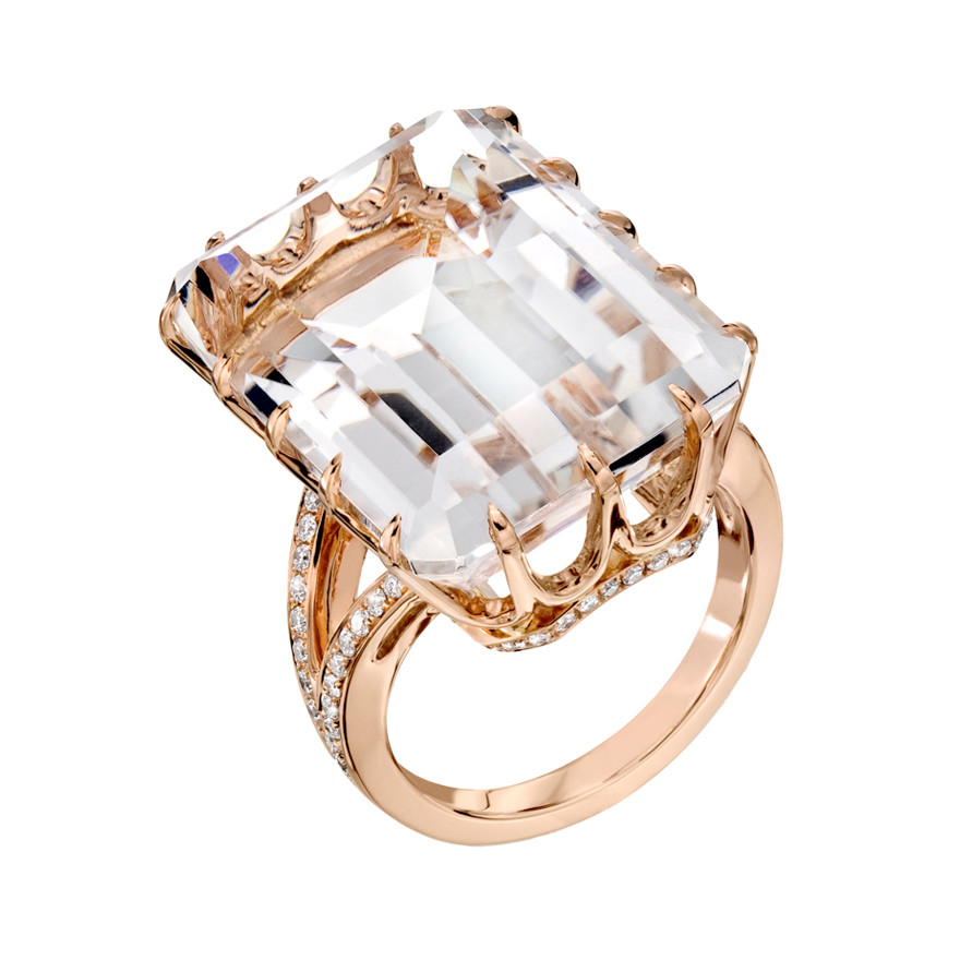 Ivanka Trump Rock Crystal Cocktail Ring Betteridge